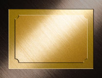 Award plaque. A brush gold award plaque stock images