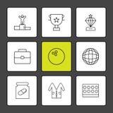 Award Position, Breifcase, Medicine,Trophy , diamond, bowling ba. Ll , globe, world , lab coat , medical , logo, design, vector, sign, label, symbol, icon vector illustration