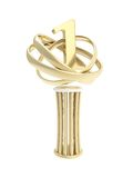 Award prize statuette cup isolated on white Royalty Free Stock Image