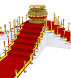 Award is on red carpet. Royalty Free Stock Image