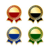 Award ribbon the best set Royalty Free Stock Photography
