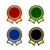 Award ribbon the best set Royalty Free Stock Images