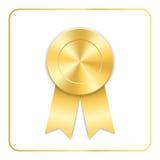Award ribbon gold icon Stock Photography