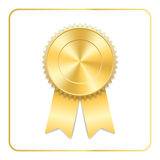 Award ribbon gold icon royalty free illustration