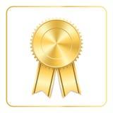 Award ribbon gold icon Stock Images