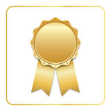 Award ribbon gold icon Stock Photography