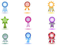 Award / Ribbon Icons Stock Photography
