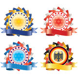 Award ribbon rosettes. Stock Photography