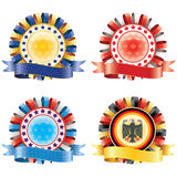 Award ribbon rosettes. Royalty Free Stock Photo