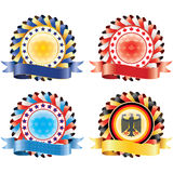 Award ribbon rosettes. Stock Image