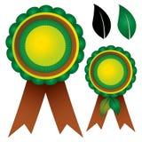 Award ribbon rosettes nature Stock Photo