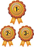 Award ribbon rosettes Stock Photos