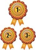Award ribbon rosettes vector illustration