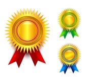 Award ribbon set Royalty Free Stock Photos