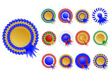 Award ribbon set Royalty Free Stock Photo