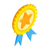 Award ribbon with star isometric 3d icon Stock Photography