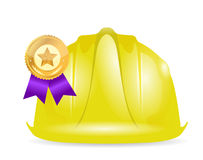 Award ribbon under construction sign Stock Image