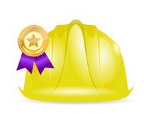 Award ribbon under construction sign Stock Image