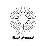 Award Ribbon vector icon. Winner achievement sign. Champion medal emblem. Royalty Free Stock Photo