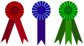 Award ribbon vector illustration set Royalty Free Stock Images