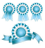 Award and ribbons Stock Photography