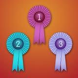 Award Ribbons. Vector Illustration of Award Ribbons (eps v.10 Royalty Free Stock Photo