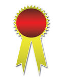 Award ribbons. On white background Royalty Free Stock Photos