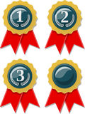 Award ribbons collection Stock Image