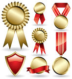 Award ribbons and medals Stock Photos