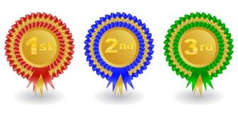 Award ribbons set Royalty Free Stock Images