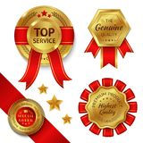Award Ribbons Set Stock Image