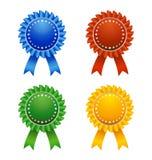 Award Ribbons. Various Color Award Ribbons on white Background Stock Photography