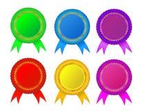 Award  rosette. Set of  award  rosette, editable Royalty Free Stock Image