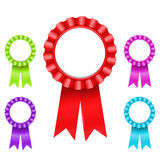 Award Rosettes. Illustration of Award Rosette (only gradients Royalty Free Stock Photos