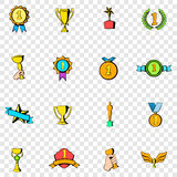Award set icons Royalty Free Stock Photos