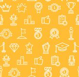 Award Signs Seamless Pattern Background. Vector stock illustration