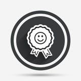 Award smile icon. Happy face symbol. Stock Photography
