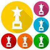 Award with star icons set Royalty Free Stock Photography