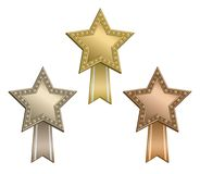 Award star ribbon Royalty Free Stock Photos