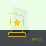 The award, star winner Stock Image