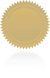 Award starburst Royalty Free Stock Photo