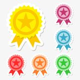Award stickers set Stock Image