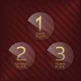 Award symbol set. First, second and third winner icons. Award symbol set. Award label. Vector illustration Royalty Free Stock Photos