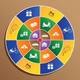 Award symbol on target Stock Photography
