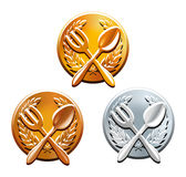 Award in three nominations for best cooking Royalty Free Stock Images