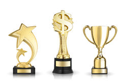 Award trophies Stock Photo
