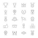 Award and Trophy Icons Line Set Of Vector Illustration. This is graphics vector Illustration icons. Ready to use for websites, social medias, presentations Stock Images