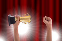 Award Trophy for winner achievement Royalty Free Stock Photo