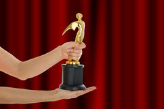 Award Trophy for winner achievement. After win competition Royalty Free Stock Images
