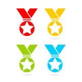 Award vector medal set Royalty Free Stock Photos